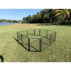 Imagem de Cercadinho Cães Canil Pet Util 8 Lados Cercado Com 2 Portões Preto