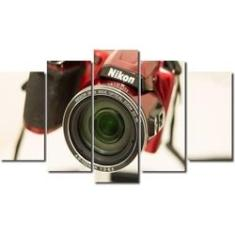 Imagem de Quadro decorativo para quartos e salas maquina fotográfica nikon 5 peças