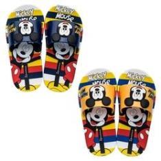 Imagem de Chinelo Infantil Mickey Mouse Slide Stripes Disney