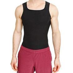 Imagem de Camiseta Cinta Masculina Efeito Sauna Suor Emagrece Peso S/M