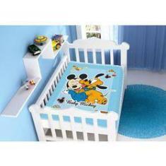 Imagem de Cobertor Infantil Raschel Disney Baby Mickey E Pluto 100% Poliéster – Jolitex