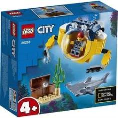 Imagem de Brinquedo Lego City Mini Submarino Oceânico 41 Peças