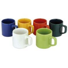 Imagem de Jogo De Canecas Café Colors 85Ml 6 Peças Class Home