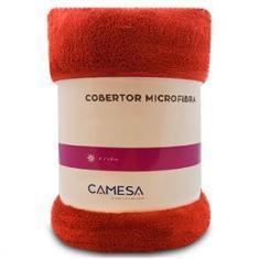 Imagem de Manta Cobertor Solteiro 150x220cm Microfibra Soft Macia Fleece Camesa - Emcompre