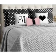 Imagem de Jogo de cama queen 8 peças cobre leito Maria