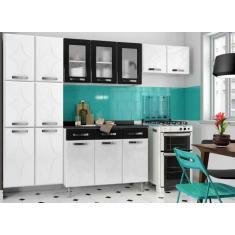 Imagem de Cozinha Completa 3 Gavetas 14 Portas com vidro Rubi Telasul