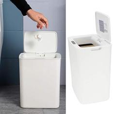 Imagem de Lixeira com sensor automático de resposta sensível de fechamento retardado, Lixeira com sensor de movimento , 6 para quarto, cozinha de banheiro, sala de estar