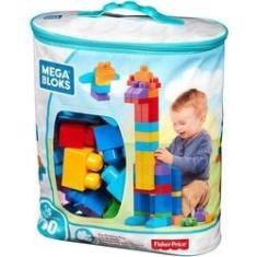 Imagem de Mega Bloks Sacola com 80 Peças Fisher-Price Mattel