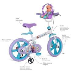 Imagem de Bicicleta Bandeirante Lazer Frozen Aro 14 Frozen 2