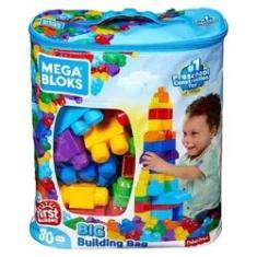Imagem de Blocos De Montar Mega Bloks Sacola Com 80 Peças Fisher Price