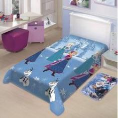 Imagem de Manta Infantil Frozen Neve Disney Soft Poliéster Microfibra Jolitex 1,50mx2,00m
