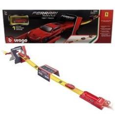 Imagem de Brinquedo Pista De Corrida Lançadora Race E Play Test Track Ferrari - Acompanha Um Carro Carrinho Escala 1:64 - Burago