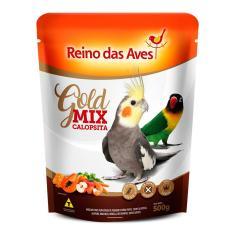 Imagem de Alimento Calopsita Reino das Aves Gold Mix 500g