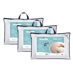 Imagem de Kit 3 Travesseiros 100% Látex Natural Basic Soft 50x70cm - Dunlopillo