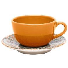 Imagem de Xícara De Chá Com Pires 200Mls Cerâmica Unni Castello Oxford