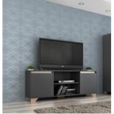 Imagem de Rack para TV até 40 Polegadas 2 portas 2030 Grafite/Siena - Quiditá