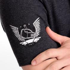 Imagem de Camiseta Manga Curta L'unico - Modelo False V - Malha piquet - Algodão/Poliéster - cor  grafite