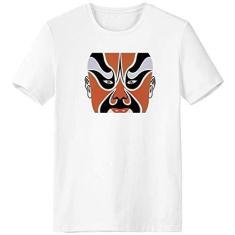 Imagem de Beijing Opera Peking Opera Face Head Camiseta Workwear Bolso Manga Curta Roupa Esportiva, Multicor, XL