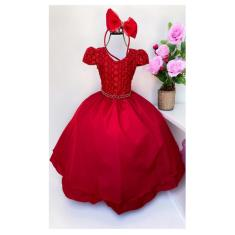 Imagem de Vestido Infantil Festa  Renda