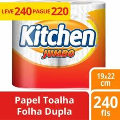 Imagem de Papel Toalha Kitchen Jumbo 6 Unidades Atacado Barato