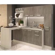 Cozinha Completa 1 Gaveta 10 Portas para Cooktop Alice 7080 Cadorin