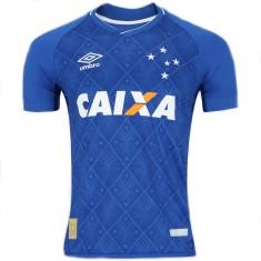 Camisa Cruzeiro I 2017 18 Sem Número Torcedor Masculino Umbro db8ef744e2775