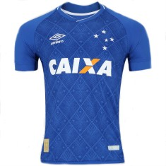 Camisa Cruzeiro I 2017 18 Sem Número Torcedor Masculino Umbro 9f8d223ad283d