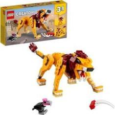 Imagem de Lego Creator - 3 em 1 Leão Avestruz e Porco 224 Peças 31112