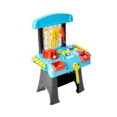 Imagem de Brinquedo Profissão Bancada Oficina Criaçoes Divertidas Com Ferramentas E Acessorios