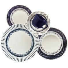 Aparelho de Jantar Redondo de Cerâmica 30 peças - Actual Cold Biona Oxford Porcelanas