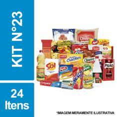 Imagem de Cesta Básica De Alimentos E Higiene C/ 24 Itens