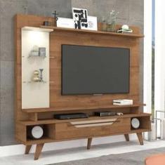 Imagem de Estante para Home Theater e TV 55 Polegadas Londres Savana e Off White 180 cm