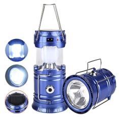 Imagem de Lampião Solar E Lanterna Led 2 Em 1 Recarregável Com Saída Usb