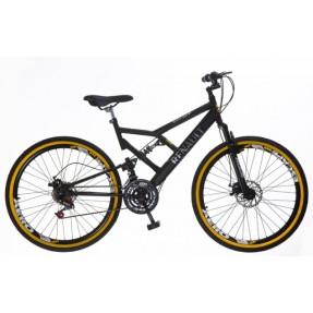 Bicicleta Mountain Bike Colli Bikes Renault 21 Marchas Aro 26 Suspensão Full Suspension Freio a Disco Mecânico 549