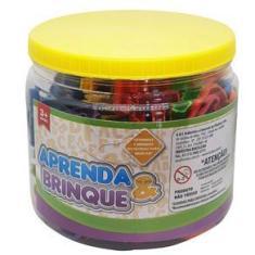 Imagem de Jogo 200 Peças Letras e Numeros Infantil  Didatico Alfabeto Brinquedo Educativo Aprendendo Brincando