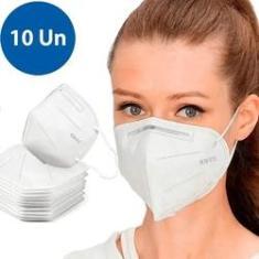 Imagem de Kit 10 Máscaras N95 Proteção Respiratória Pff2 Reutilizável