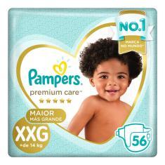 Fralda Pampers Premium Care Tamanho XXG 56 Unidades Peso Indicado +14kg