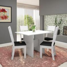 Imagem de Conjunto Sala de Jantar Mesa 110cm 4 Cadeiras Vera Indekes
