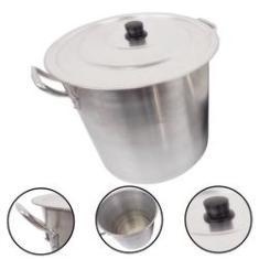 Imagem de Caldeirão Alumínio Panela Grande Feijoada Sopa N28 15 Litros