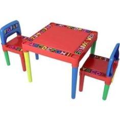 Imagem de Mesa Infantil Desmontável 2 Cadeira Educativa Para Crianças