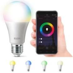 Imagem de Lampada Led 10w Elgin Smart Color RGB Inteligente Wifi Google Alexa