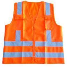Imagem de Colete Fluorescente Modelo Tipo Blusão Laranja
