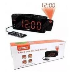 Imagem de Rádio relógio digital com alarme porta USB e projetor Lelong 672
