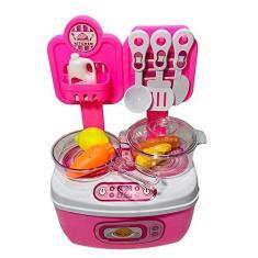 Imagem de Maleta Cozinha Infantil  Brinquedo Menina Comidinha