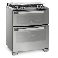 Fogão de Piso Electrolux 5 Bocas Acendimento Superautomático Grill 76XGD