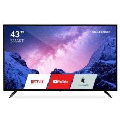 "Smart TV LED 43"" Multilaser Full HD TL027 3 HDMI"