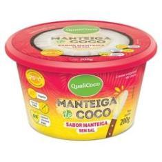 Imagem de Manteiga De Coco Sabor Manteiga Sem Sal 200g - Qualicôco