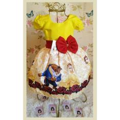 Imagem de Vestido Infantil tema Princesa Bela