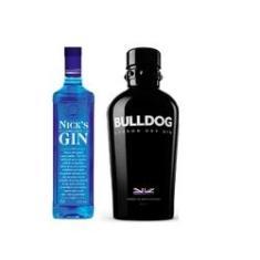 Imagem de Kit Gin Bulldog 750ml e Nick's London Dry 1L