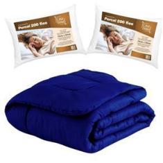 Imagem de Edredom Queen 8 Peças com 2 Travesseiros  Marinho Casa Dona